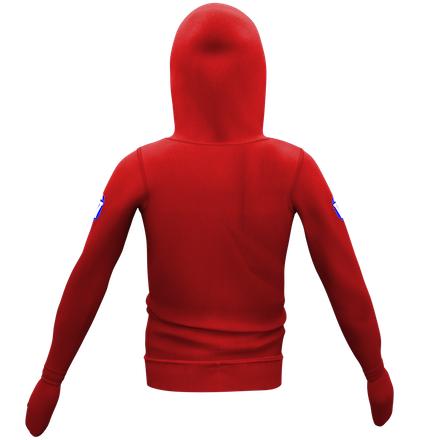 Red Hoodie with Shield